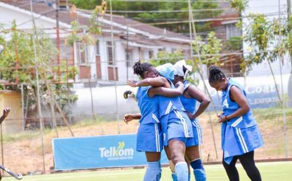Image of Mombasa Sports Club Ladies Rejoicing after winning a match
